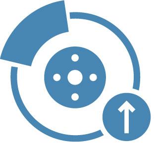 Icon Representing The EV Brake Module Upgrade Service